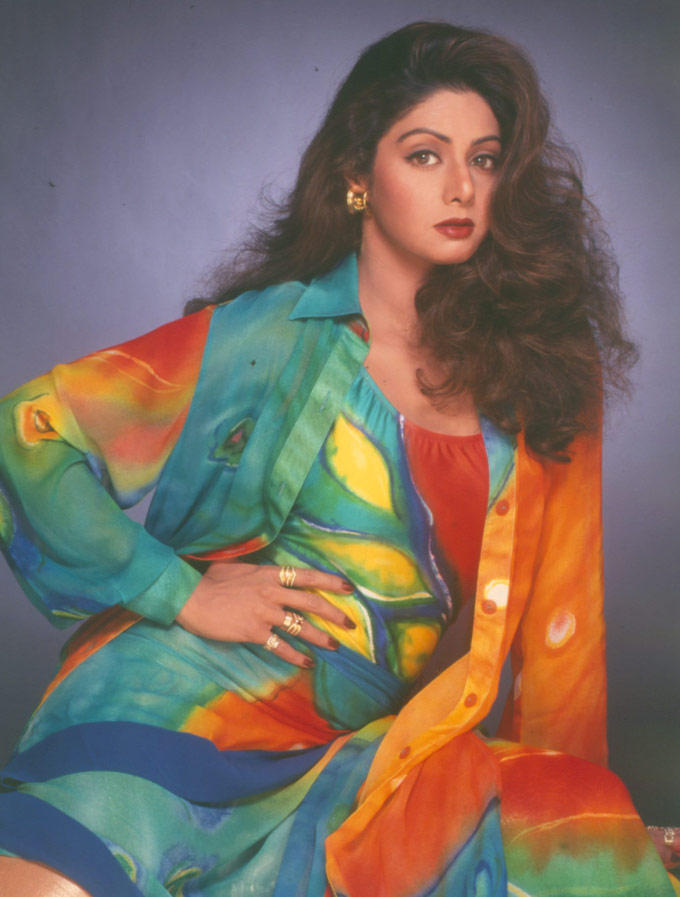 Vivacious Actress Sridevi Senseous Look Photo Shoot
