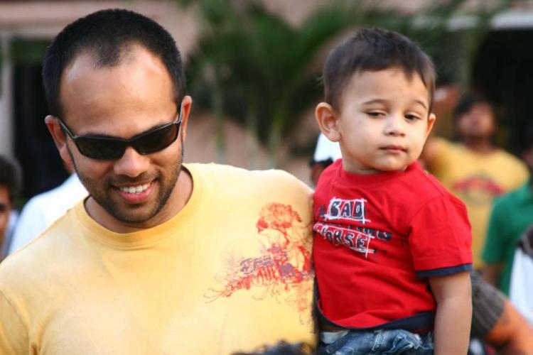 Director Rohit Shetty and Son Ishaan Latest Photo