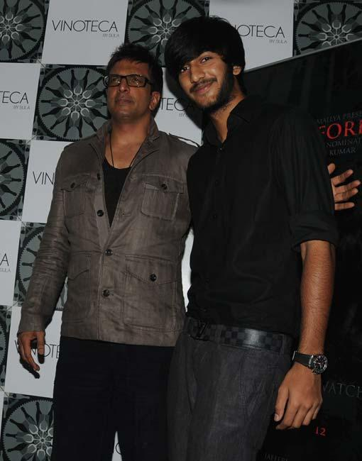 Javeed Jaffrey With Son Meezan Jaffrey at Success Party for The Forest
