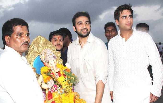 Raj Kundra Celebrate Ganesh Chaturthi