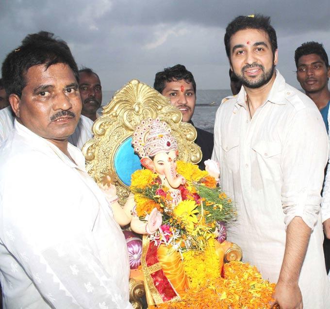 Raj Kundra Celebrating Ganesh Chaturthi