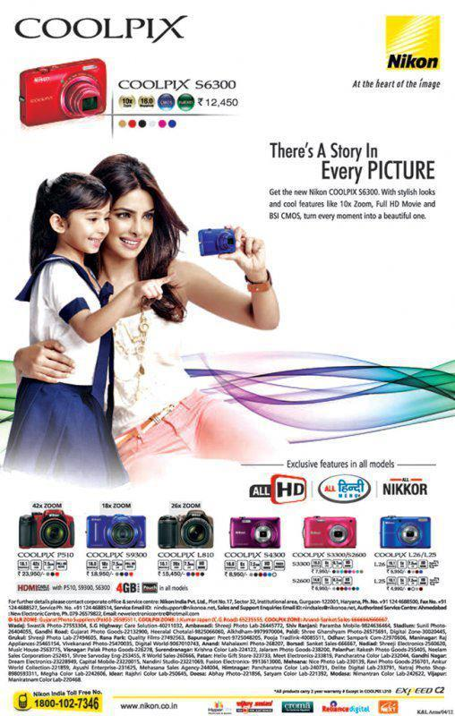 Priyanka Chopra's New Nikon Coolpix Ad Scans