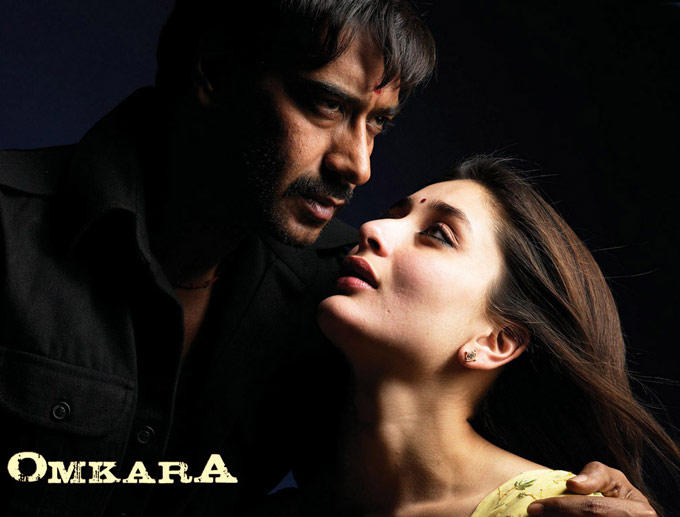 Kareena and Ajay Devgan Exclusive Pic In Omkara