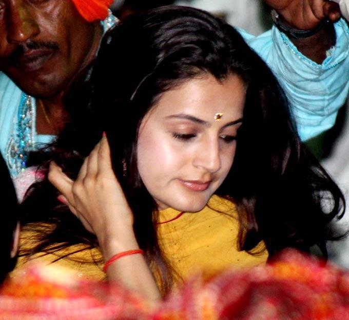 Amisha Patel at Salman Khan's Ganesh Visarjan Ceremony