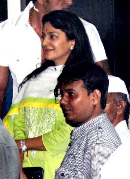 Juhi Chawla at Salman Khan's Ganesh Visarjan Ceremony