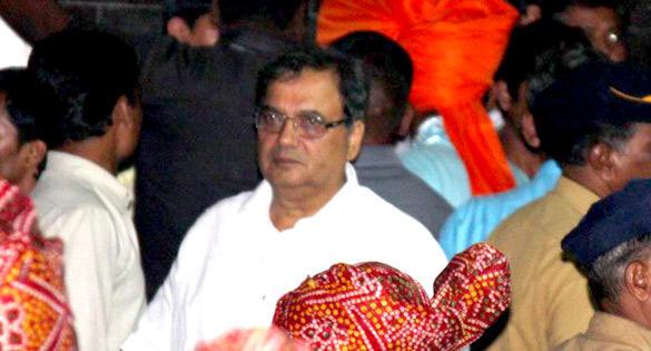 Subhash Ghai at Salman Khans Ganesh Visarjan Ceremony