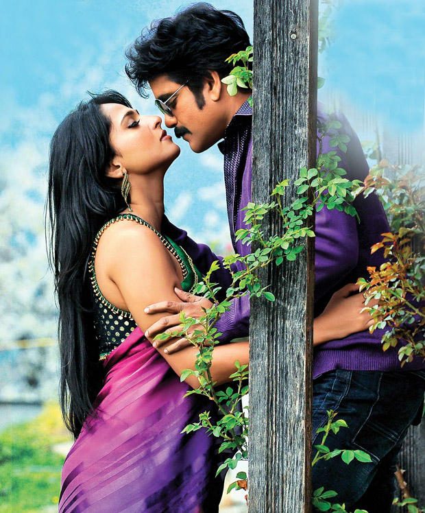 Nagarjuna and Anushka Hot Kiss Still In Damarukam Movie