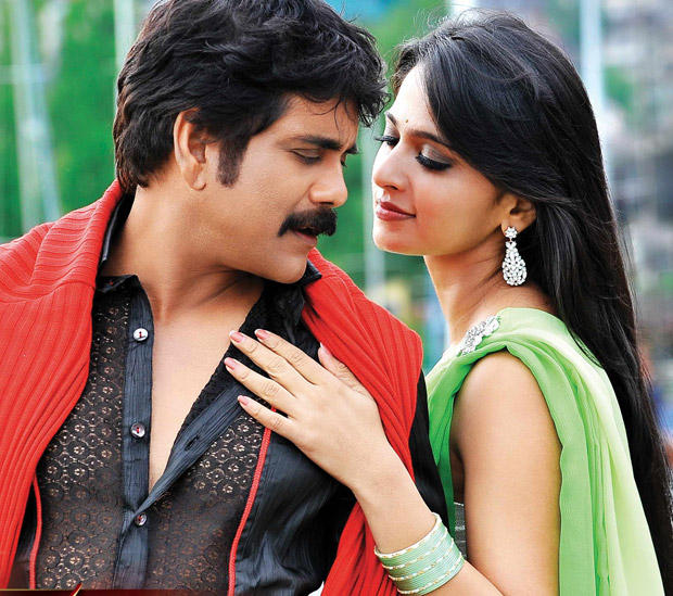 Nagarjuna and Anushka Romantic Pic In Damarukam Film