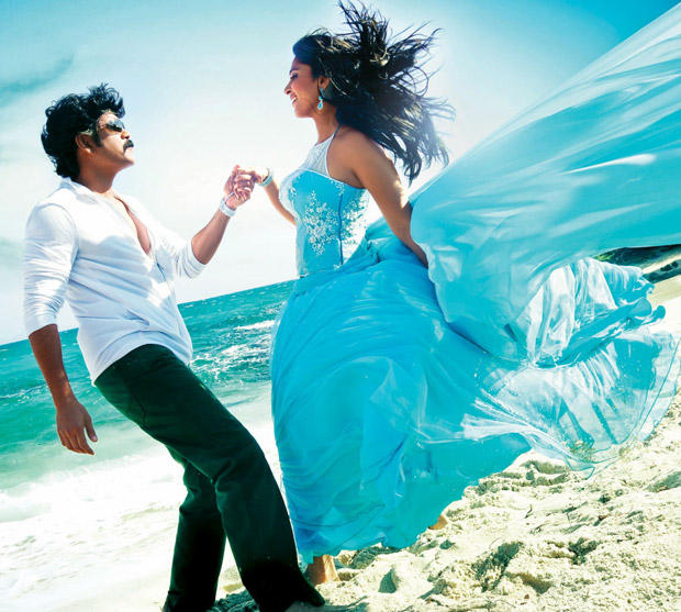 Nagarjuna and Anushka A Song Still From The Movie Damarukam