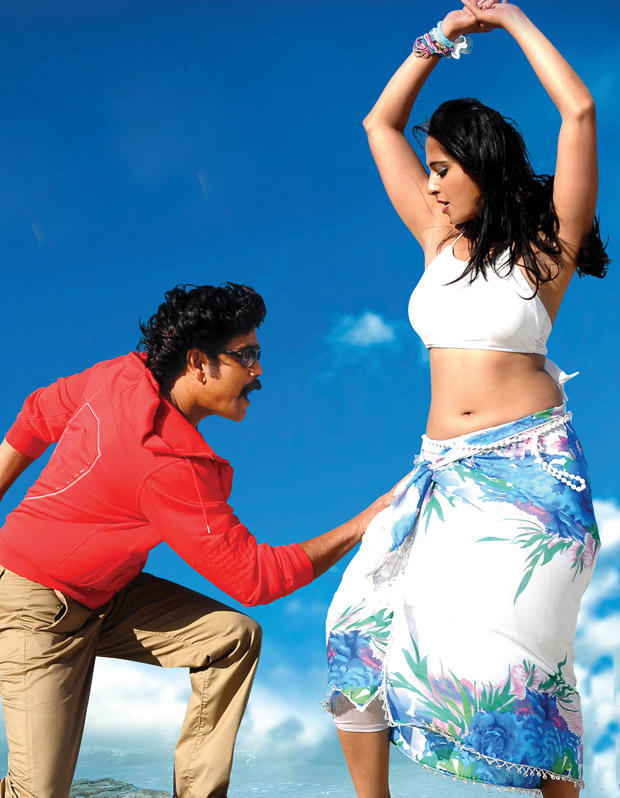 Nagarjuna and Anushka Spicy Hot Dance Still In Damarukam Movie