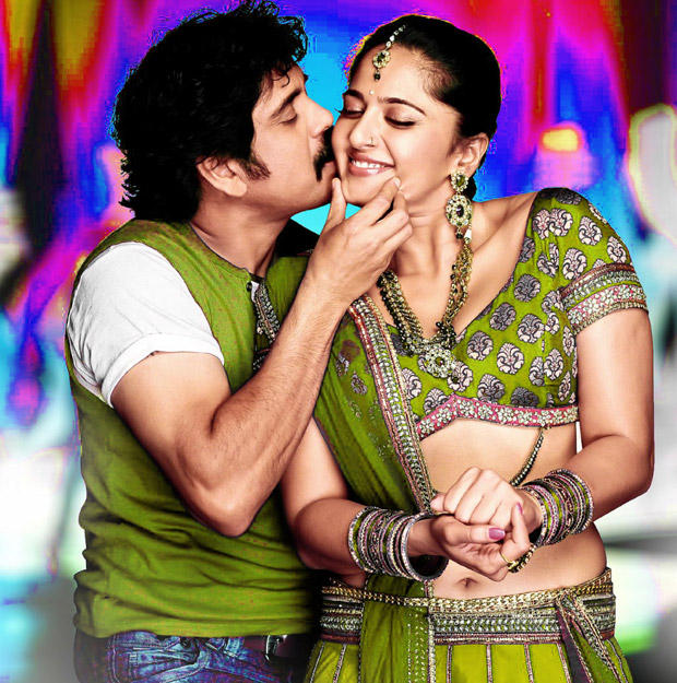 Nagarjuna Kissing Anushka In Damarukam Movie