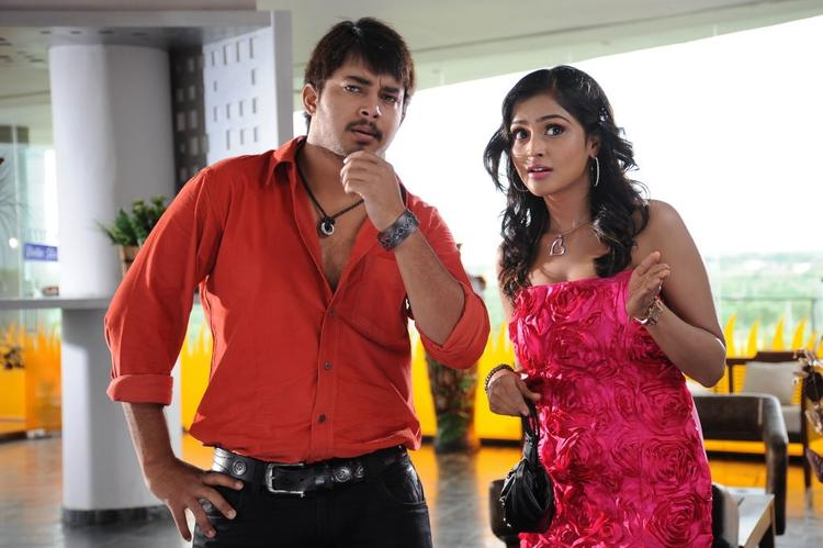 Ramya and Tanish Cute Still From The Movie Abbai