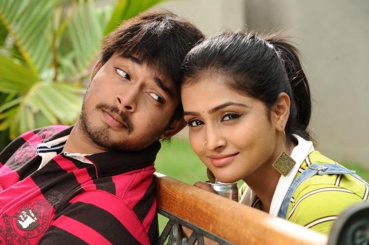 Tanish and Ramya Nice Pic In Abbai Movie