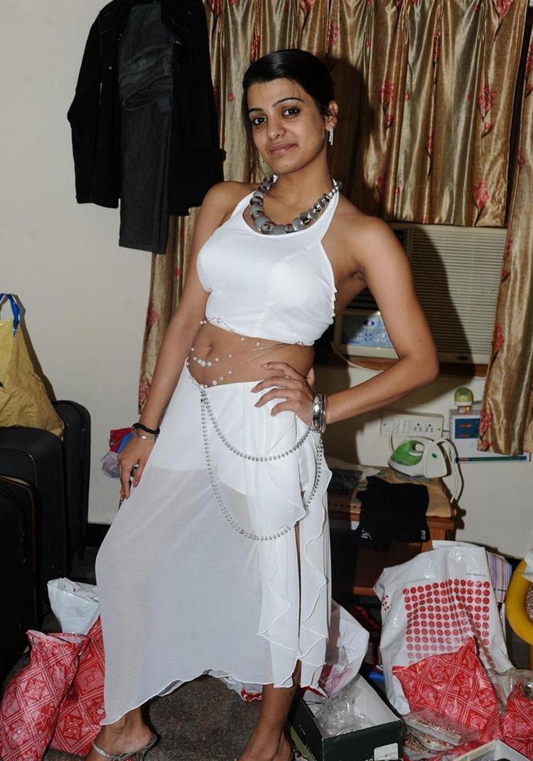 Hot Actress Tashu Kaushik White Dress Still