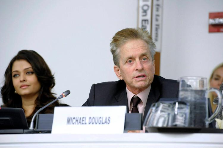 Michael Douglas Speaks During The International World Peace Day Event