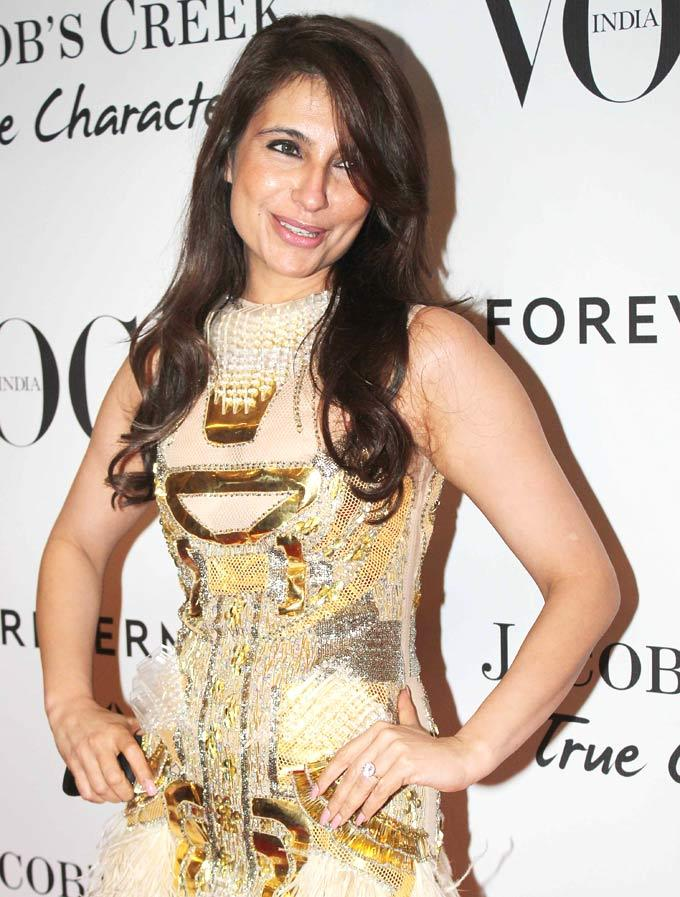 Tanisha Mohan Sweet Pose During Vogue's 5th Birthday Party