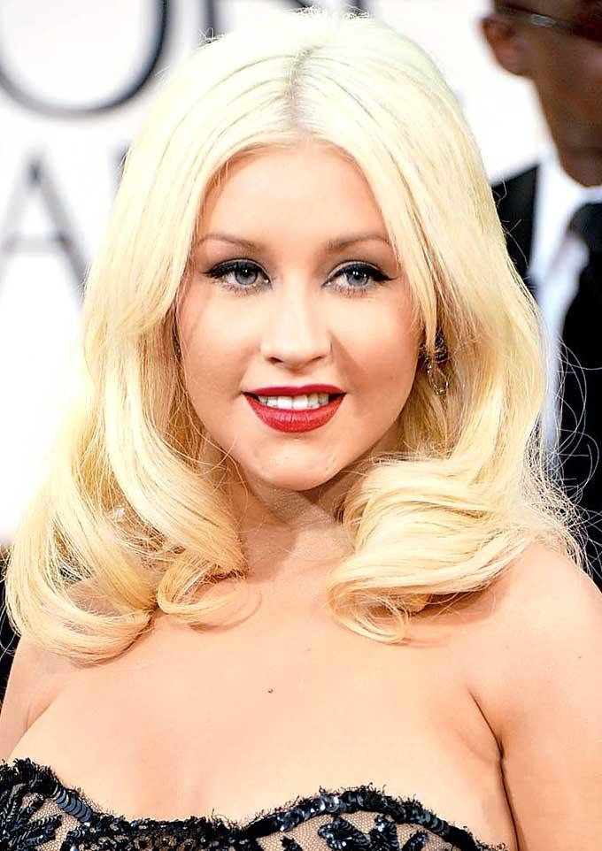 Christina Aguilera Strapless Dress Hot Gorgeous Photo