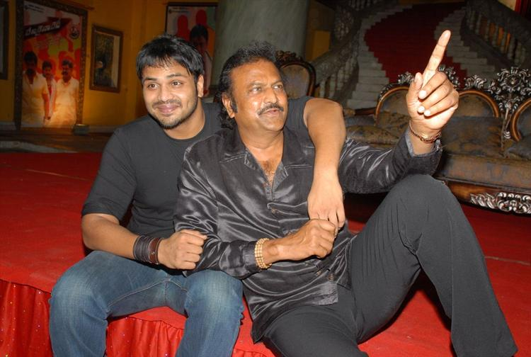 Mohan Babu Having a Fun During Denikaina Ready Movie Logo Launch Event