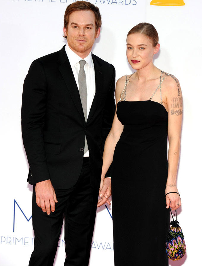 Actor Michael C. Hall With A Guest at Emmy Awards 2012