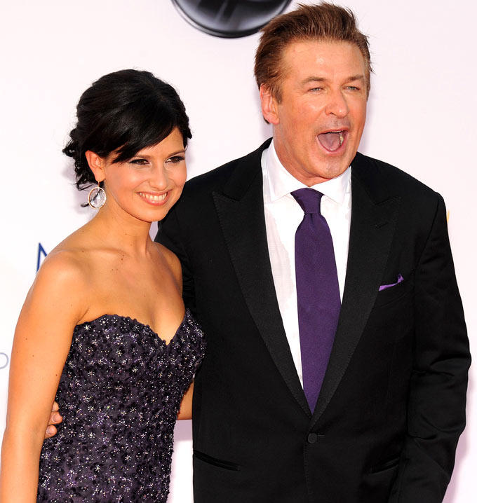 Alec Baldwin Arrives With His Wife Hilaria at Emmy Awards 2012