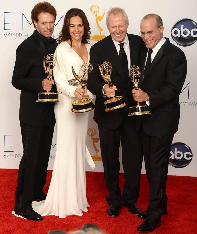 Jerry,Elise,Bertram and Jonathan Littman at Emmy Awards 2012