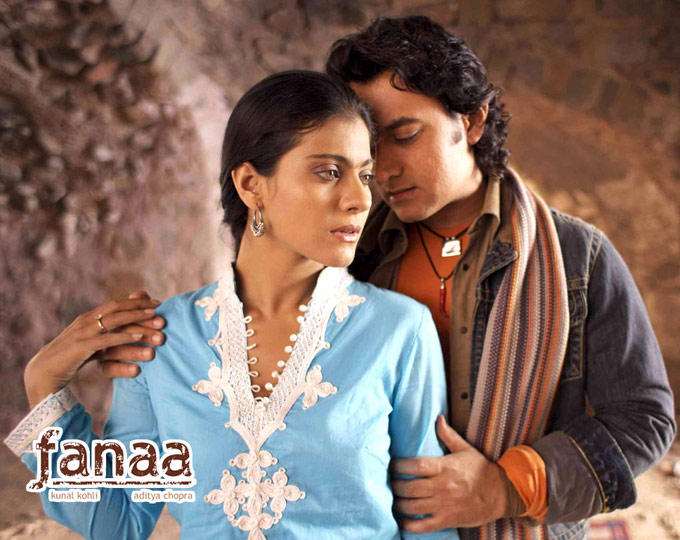 Aamir Khan and Kajol A Still From The Movie Fanaa