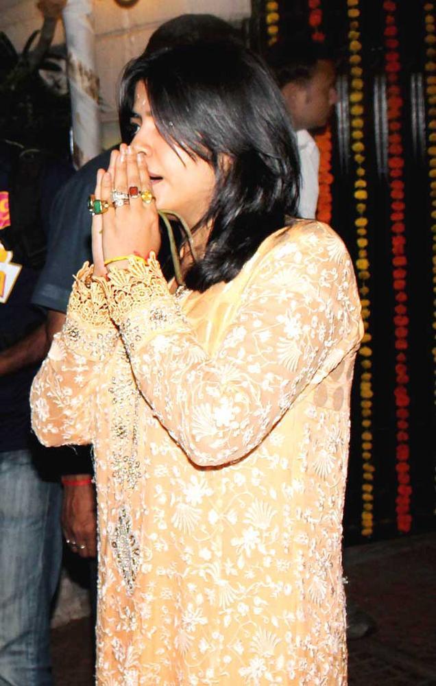 Ekta Kapoor Bids Adieu To Lord Ganesh