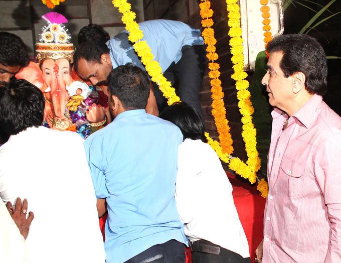 Jeetendra at His Residence For Ganpati Visarjan
