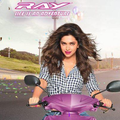 Deepika Padukone Photo Shoot For Yamaha Ray Ad-Life Is An Adventure