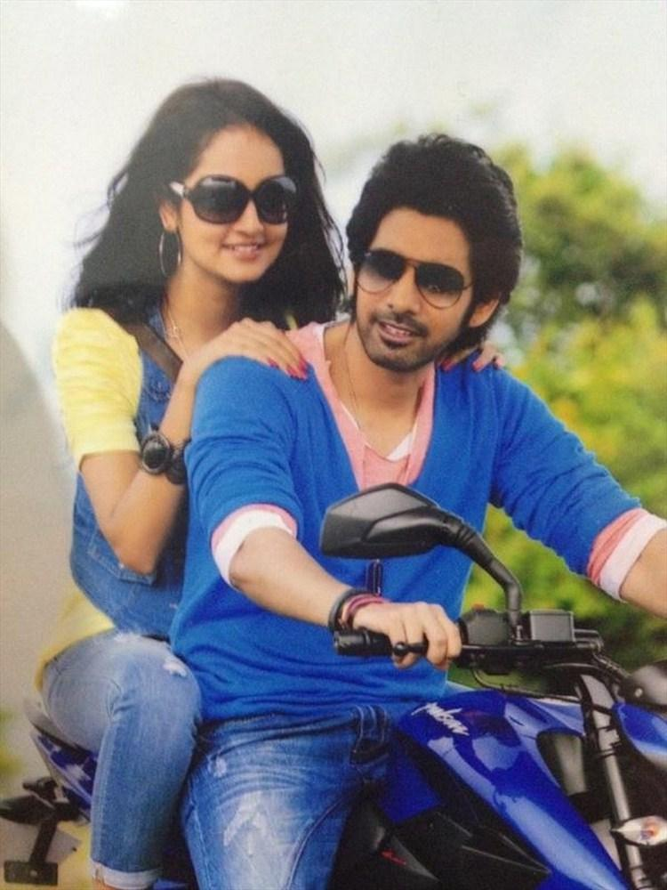 Sushanth and Shanvi Adda Movie Bike Still