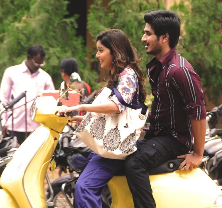 Nikhil Siddharth and Swathi Scooty Still In Swamy Ra Ra