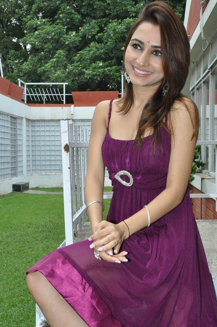 Dhriti Smiling Pose Photo Shoot at NSR Films New Movie Launch Event