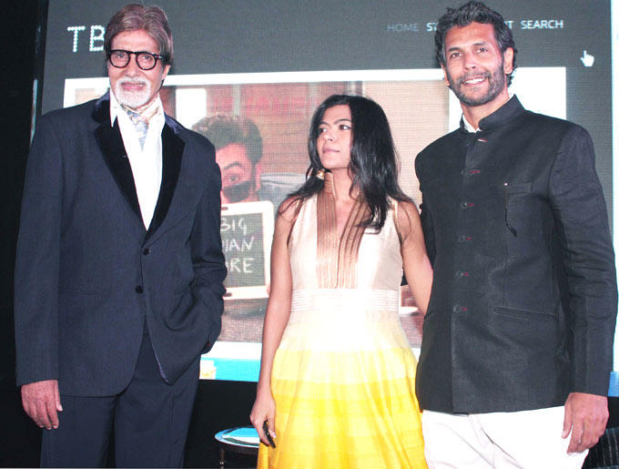 Amitabh and Milind at The Launch Of The Online Magazine,TBIP