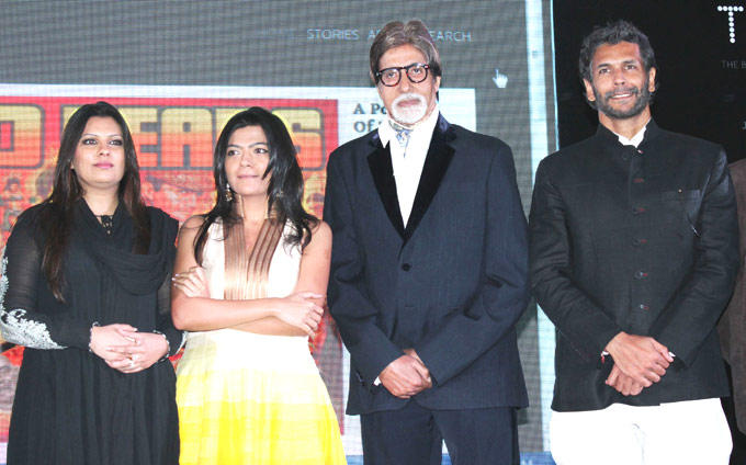 Amitabh and Milind With Other Celebs at Magazine Launch Event