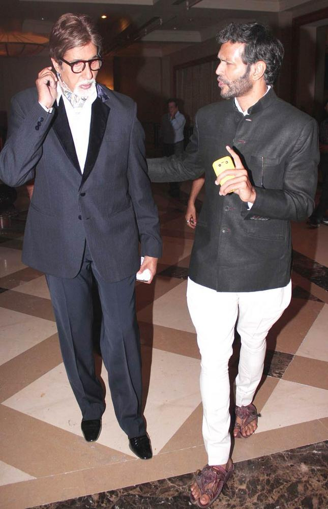 Amitabh and Milind Spotted at The Launch Of The Online Magazine,TBIP