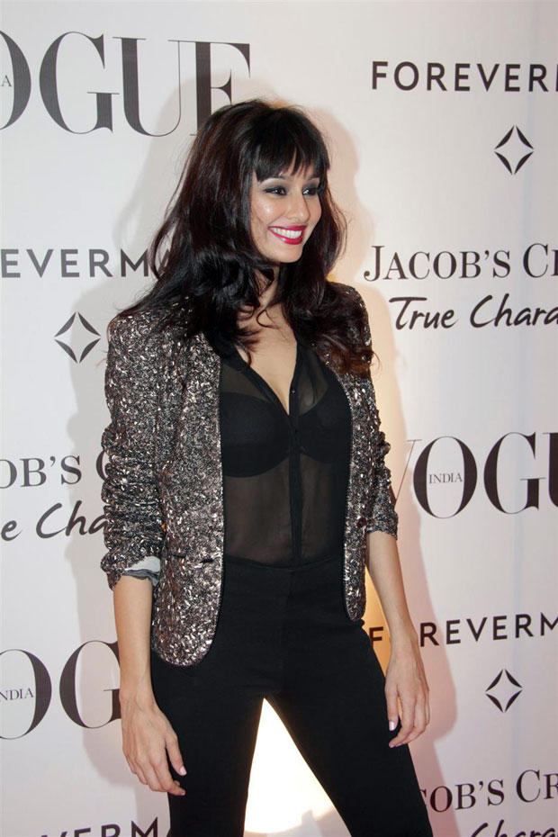 Shibani Dandekar in Rohit Gandhi and Rahul Khanna at Vogue's 5th Birthday Party