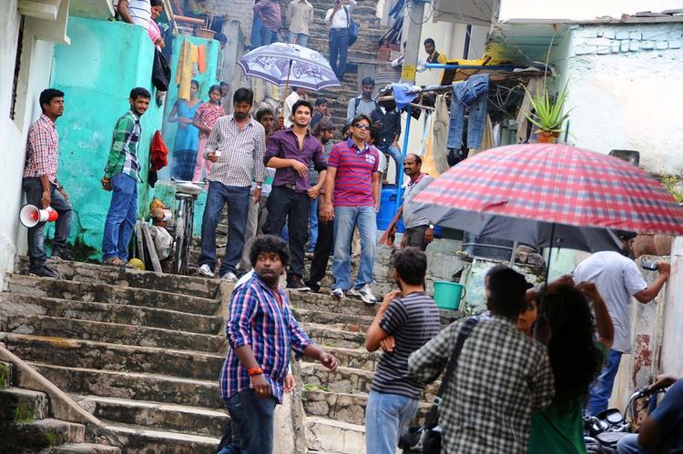 Nikhil Siddharth On The Sets Of Swamy RaRa