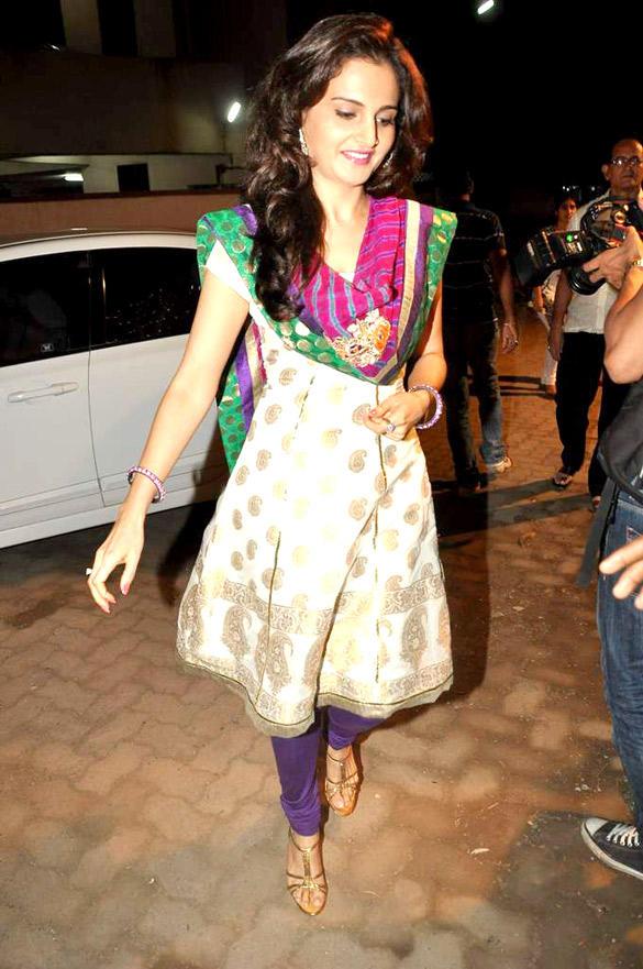 Monica Bedi In Ethnic Indian Wear at Andheri Cha Raja Ganpati Pandal