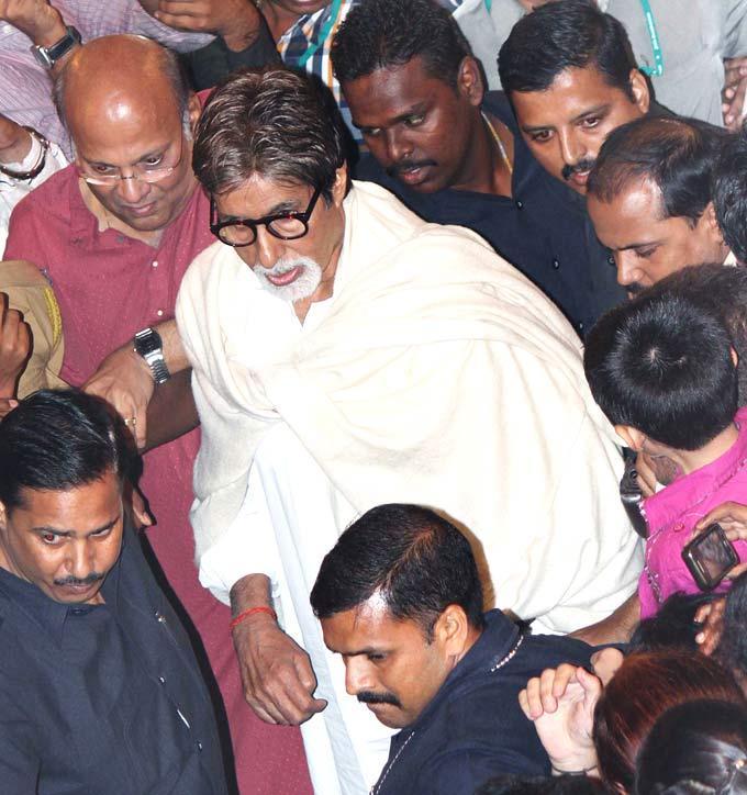 Amitabh Bachchan Spotted at Ganpati Celebrations