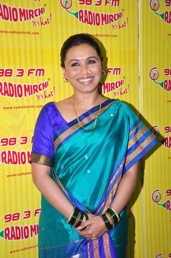 Rani Mukherjee at  98.3 FM Radio Mirchi For Aiyyaa Promotion