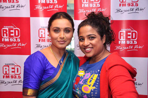 Rani Mukherjee and RJ Malishka Pose To Photo Shoot at Red FM