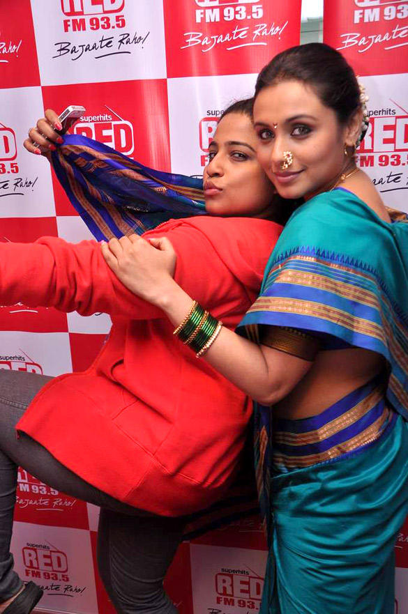 Rani Mukherjee and RJ Malishka Sexy Pose at Red FM 93.5