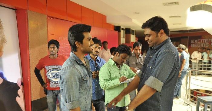 Ram Charan Yevadu Movie Working Still