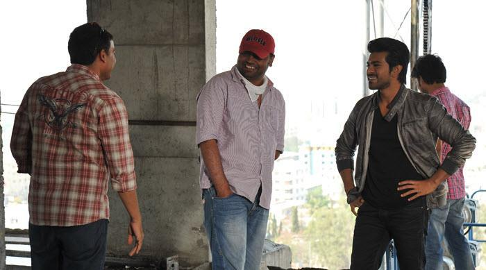 Ram Charan's Upcoming Telugu Film Yevadu Working Still