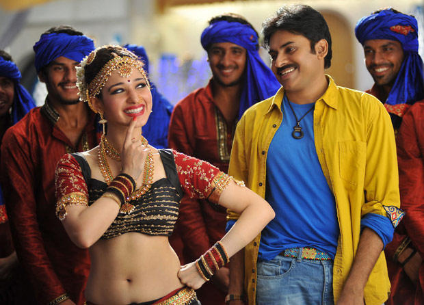 Tamanna and Pawan New Song Still In Cameraman Gangatho Rambabu Movie