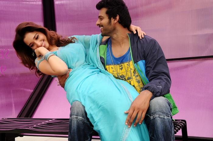 Prabhas and Tamanna Romantic Pic In Rebel Movie