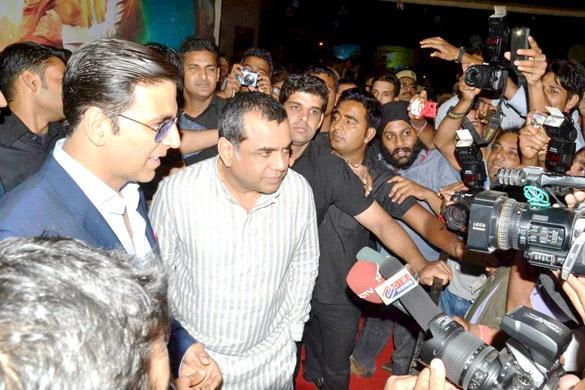 Akshay and Paresh at OMG Special Screening