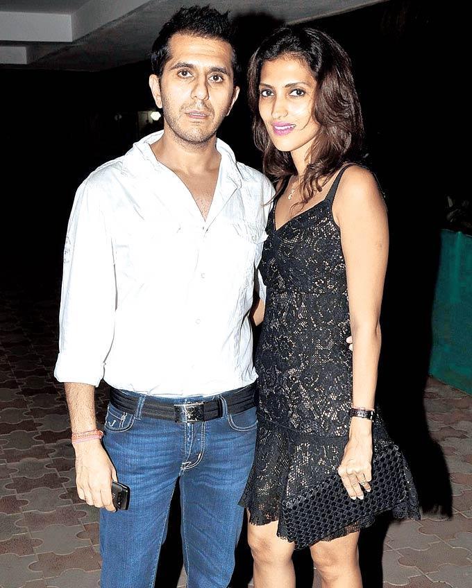 Ritesh and Dolly Sidhwani at Chunky Pandey's 50th Birthday Bash In Mumbai