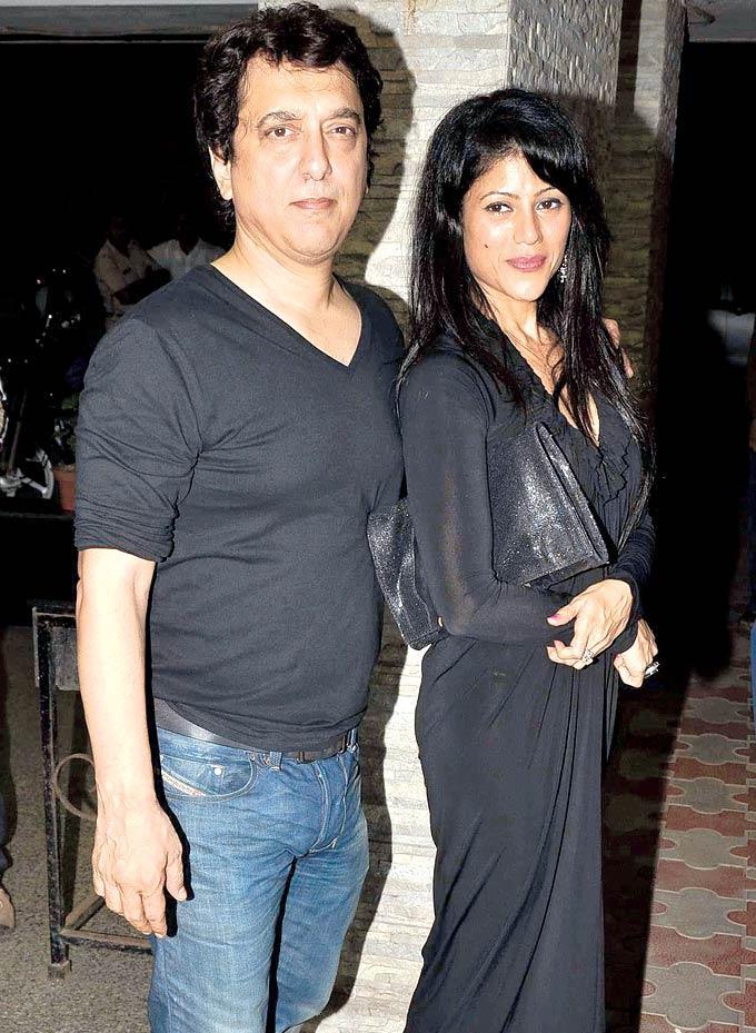 Sajid and Wardha Nadiadwala at The Birthday Bash Of Chunky Pandey