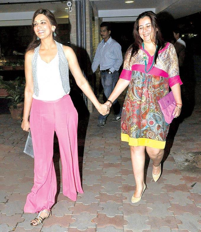 Sonali Bendre and Shrishti Arya Spotted at Chunky Pandey's Birthday Bash